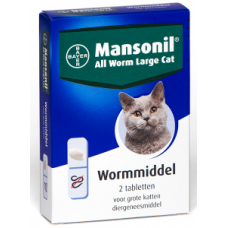 Mansonil all worm cat large ellisoid (2 tablet)