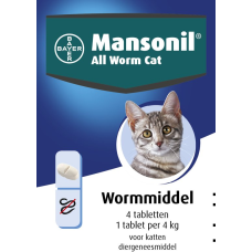 Mansonil all worm cat ellipsoid (4 tablet)