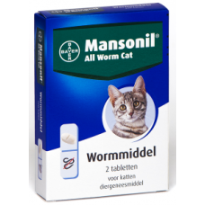 Mansonil all worm cat ellipsoid (2 tablet)