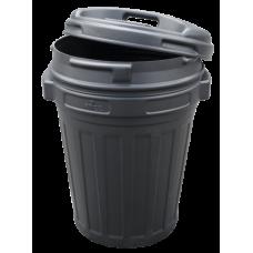 Voerton met draaisluiting 70 liter (zwart)